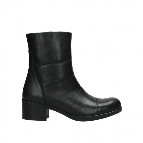 wolky mid calf boots 06030 amsterdam 20000 black leather