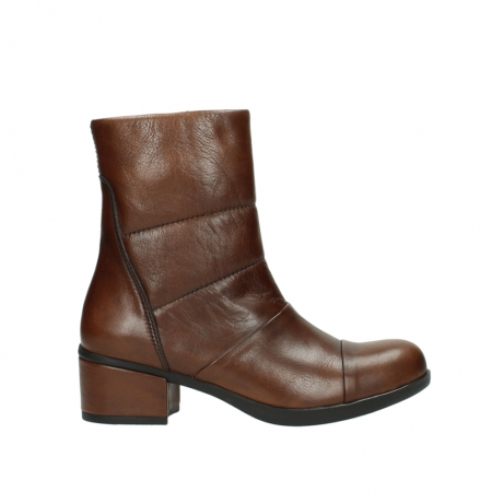 wolky mid calf boots 06030 amsterdam 20430 cognac leather