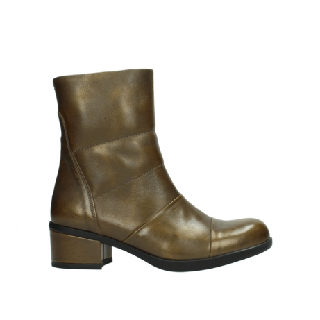 wolky mid calf boots 06030 amsterdam 30363 copper graca leather