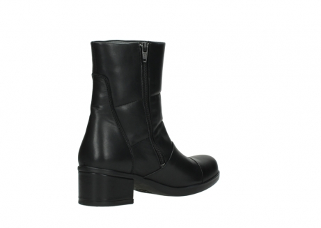 wolky mid calf boots 06032 amsterdam cw 20000 black leather cold winter warm lining_10