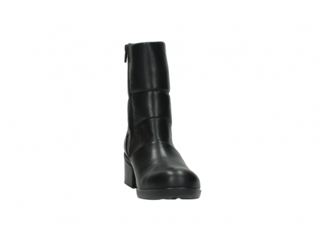 wolky mid calf boots 06032 amsterdam cw 20000 black leather cold winter warm lining_18