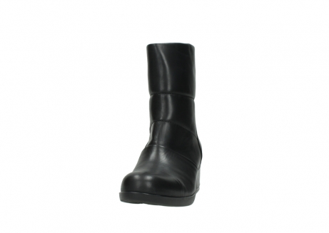wolky mid calf boots 06032 amsterdam cw 20000 black leather cold winter warm lining_20