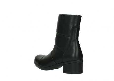 wolky mid calf boots 06032 amsterdam cw 20000 black leather cold winter warm lining_4