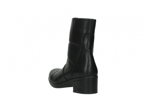 wolky mid calf boots 06032 amsterdam cw 20000 black leather cold winter warm lining_5