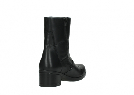 wolky mid calf boots 06032 amsterdam cw 20000 black leather cold winter warm lining_9