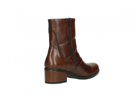 wolky mid calf boots 06032 amsterdam cw 20430 cognac leather cold winter warm lining_10