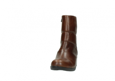 wolky mid calf boots 06032 amsterdam cw 20430 cognac leather cold winter warm lining_20
