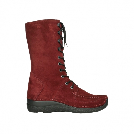 wolky halfhoge laarzen 06210 roll fashion 40540 winter rood geolied suede