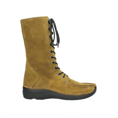 wolky mid calf boots 06210 roll fashion 40920 ocher yellow suede