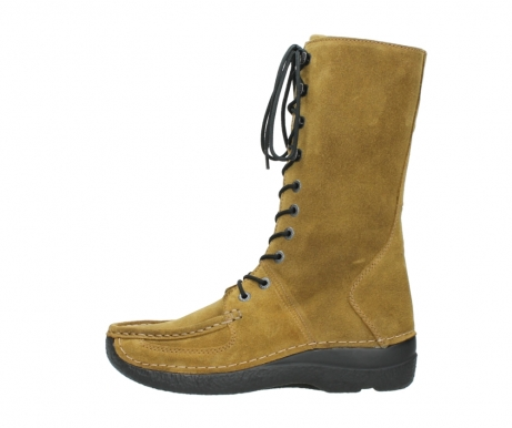 wolky mid calf boots 06210 roll fashion 40920 ocher yellow suede_1