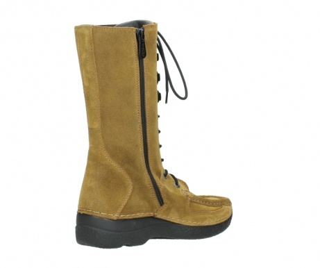 wolky mid calf boots 06210 roll fashion 40920 ocher yellow suede_10
