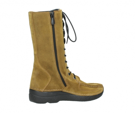 wolky mid calf boots 06210 roll fashion 40920 ocher yellow suede_11
