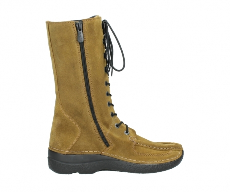 wolky mid calf boots 06210 roll fashion 40920 ocher yellow suede_12