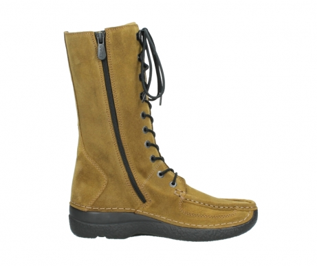 wolky mid calf boots 06210 roll fashion 40920 ocher yellow suede_13