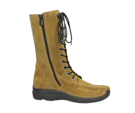 wolky mid calf boots 06210 roll fashion 40920 ocher yellow suede_14
