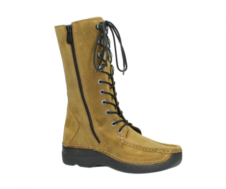 wolky mid calf boots 06210 roll fashion 40920 ocher yellow suede_15