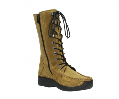 wolky mid calf boots 06210 roll fashion 40920 ocher yellow suede_16