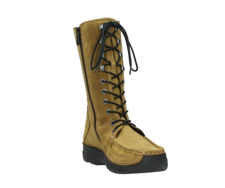 wolky mid calf boots 06210 roll fashion 40920 ocher yellow suede_17