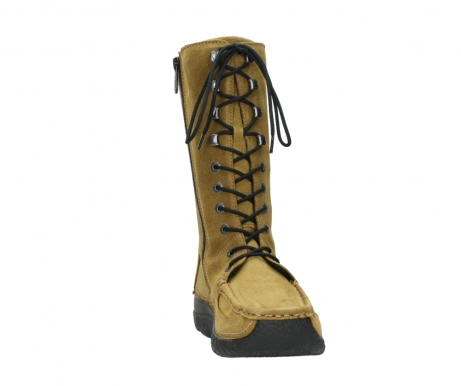 wolky mid calf boots 06210 roll fashion 40920 ocher yellow suede_18