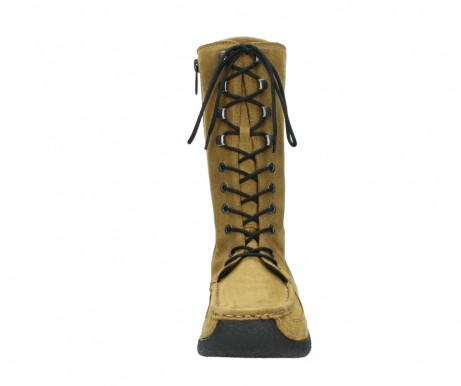 wolky mid calf boots 06210 roll fashion 40920 ocher yellow suede_19