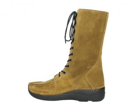 wolky mid calf boots 06210 roll fashion 40920 ocher yellow suede_2