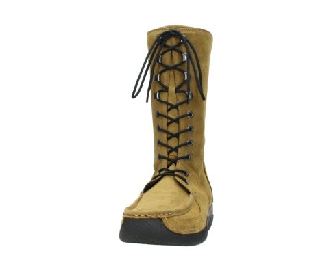 wolky mid calf boots 06210 roll fashion 40920 ocher yellow suede_20
