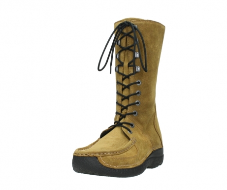 wolky mid calf boots 06210 roll fashion 40920 ocher yellow suede_21