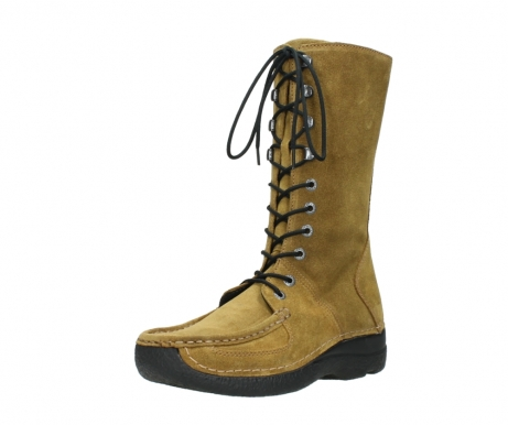 wolky mid calf boots 06210 roll fashion 40920 ocher yellow suede_22