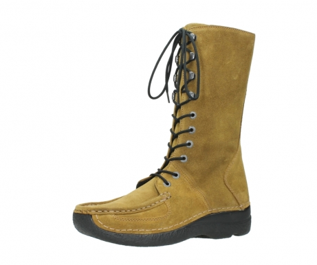 wolky mid calf boots 06210 roll fashion 40920 ocher yellow suede_23