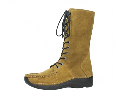 wolky mid calf boots 06210 roll fashion 40920 ocher yellow suede_24