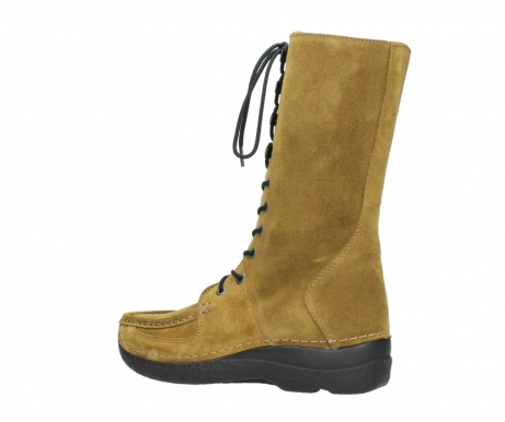 wolky mid calf boots 06210 roll fashion 40920 ocher yellow suede_3