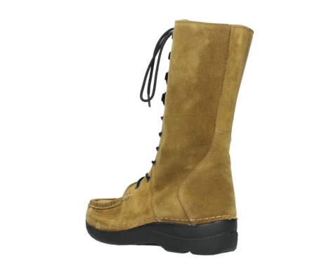 wolky mid calf boots 06210 roll fashion 40920 ocher yellow suede_4