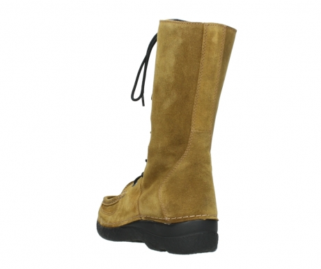 wolky mid calf boots 06210 roll fashion 40920 ocher yellow suede_5