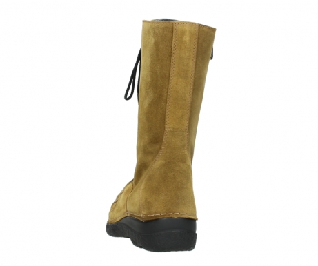 wolky mid calf boots 06210 roll fashion 40920 ocher yellow suede_6
