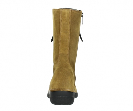 wolky mid calf boots 06210 roll fashion 40920 ocher yellow suede_7