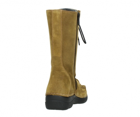 wolky mid calf boots 06210 roll fashion 40920 ocher yellow suede_8