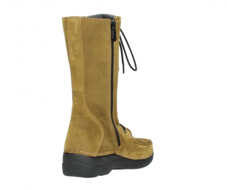 wolky mid calf boots 06210 roll fashion 40920 ocher yellow suede_9