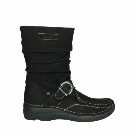 wolky mid calf boots 06267 roll jacky 50000 black oiled leather