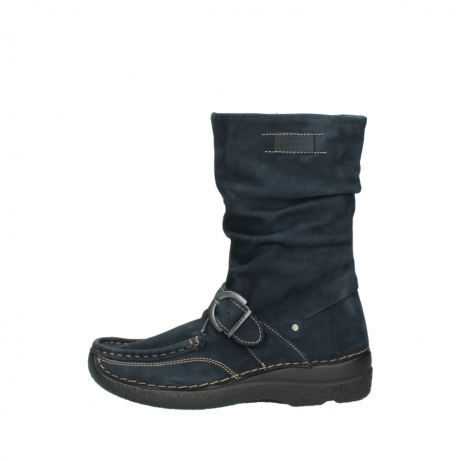 wolky mid calf boots 06267 roll jacky 50800 blue oiled leather_1