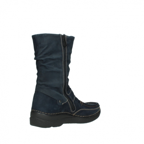 wolky mid calf boots 06267 roll jacky 50800 blue oiled leather_10