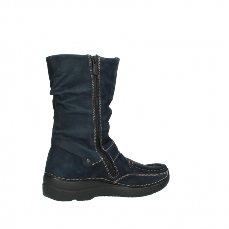 wolky mid calf boots 06267 roll jacky 50800 blue oiled leather_11