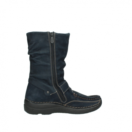 wolky mid calf boots 06267 roll jacky 50800 blue oiled leather_12