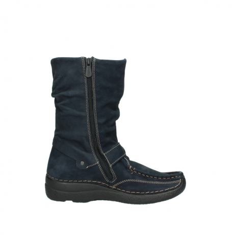 wolky mid calf boots 06267 roll jacky 50800 blue oiled leather_13
