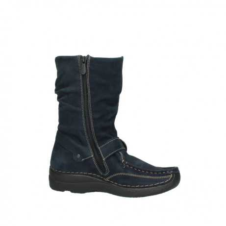 wolky mid calf boots 06267 roll jacky 50800 blue oiled leather_14