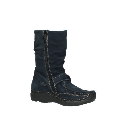 wolky mid calf boots 06267 roll jacky 50800 blue oiled leather_15