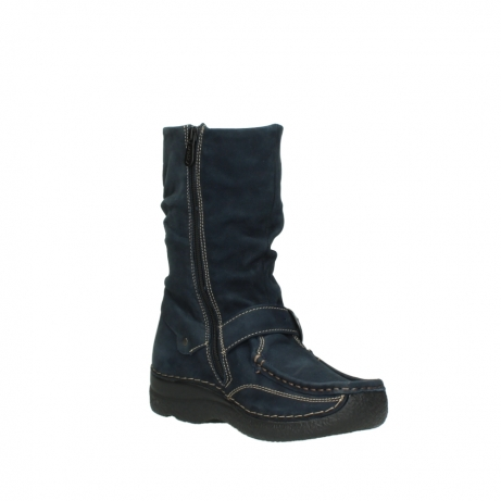 wolky mid calf boots 06267 roll jacky 50800 blue oiled leather_16