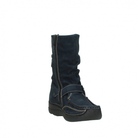 wolky mid calf boots 06267 roll jacky 50800 blue oiled leather_17