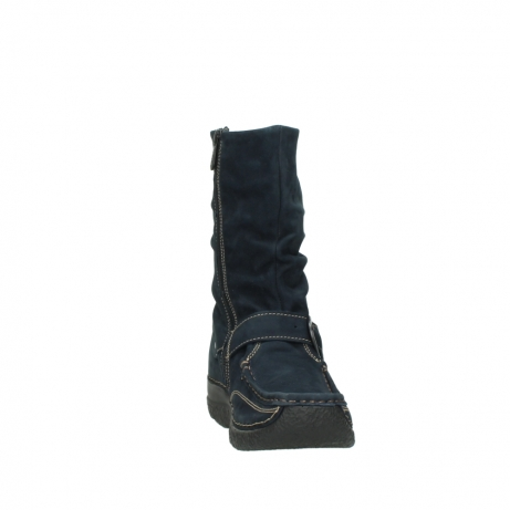 wolky mid calf boots 06267 roll jacky 50800 blue oiled leather_18