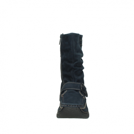 wolky mid calf boots 06267 roll jacky 50800 blue oiled leather_19