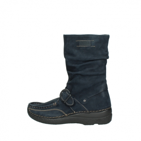 wolky mid calf boots 06267 roll jacky 50800 blue oiled leather_2